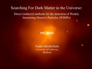 Searching For Dark Matter in the Universe: