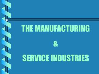 THE MANUFACTURING & SERVICE INDUSTRIES