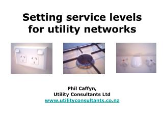 Setting service levels for utility networks