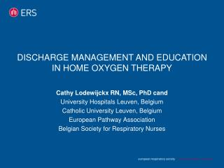 Discharge management and education in home oxygen therapy