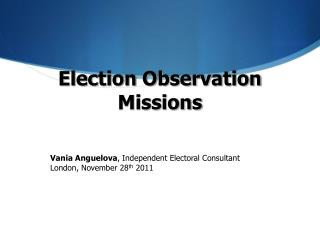 Election Observation Missions