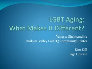 LGBT Aging:  What Makes It Different?