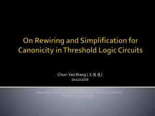 On Rewiring and Simplification for Canonicity in Threshold Logic Circuits