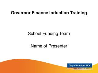 Governor Finance Induction Training