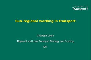 Sub-regional working in transport