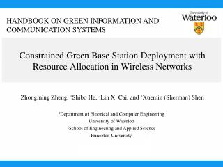 Constrained Green Base Station Deployment with Resource Allocation in Wireless Networks