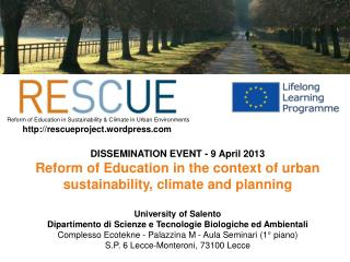 DISSEMINATION EVENT - 9 April 2013