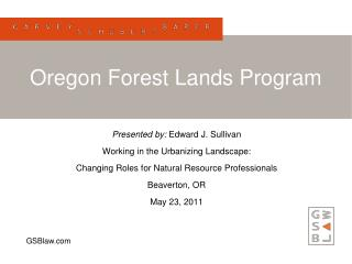 Oregon Forest Lands Program