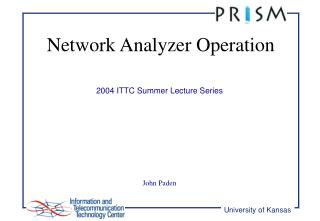 Network Analyzer Operation
