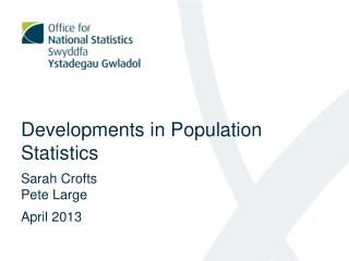 Developments in Population Statistics