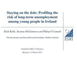 Staying on the dole: Profiling the risk of long-term unemployment among young people in Ireland