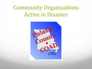 Community Organizations Active in Disaster