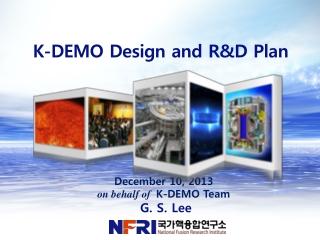 K-DEMO Design and R&D Plan