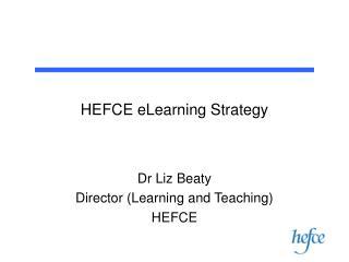 HEFCE eLearning Strategy