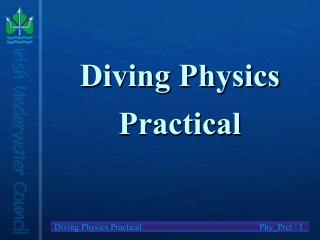 Diving Physics Practical