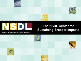 The NSDL Center for Sustaining Broader Impacts
