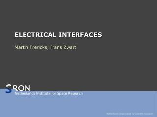 ELECTRICAL INTERFACES
