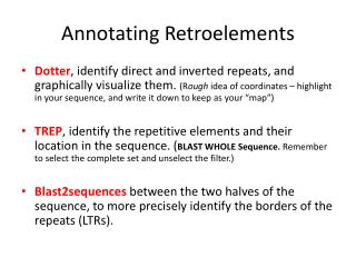 Annotating Retroelements