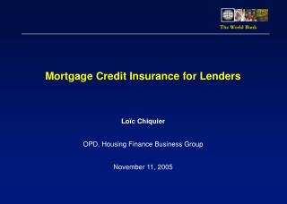 Mortgage Credit Insurance for Lenders