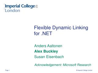 Flexible Dynamic Linking for .NET