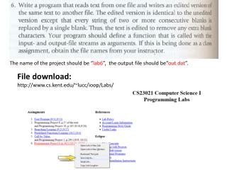 File download: cs.kent/~lucc/ioop/Labs/