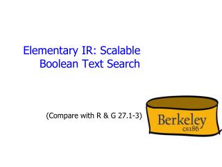 Elementary IR: Scalable Boolean Text Search