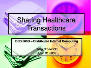 Sharing Healthcare Transactions