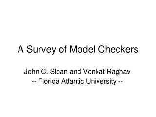 A Survey of Model Checkers