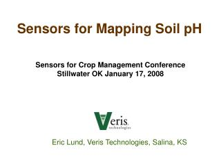 Sensors for Mapping Soil pH