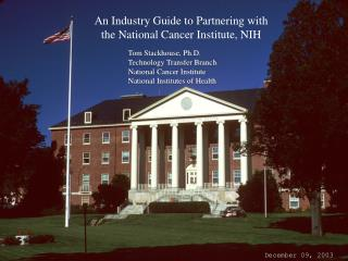 An Industry Guide to Partnering with the National Cancer Institute, NIH