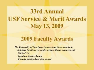 2009 Faculty Awards