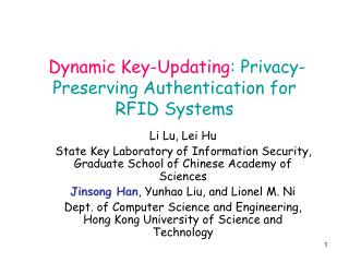 Dynamic Key-Updating : Privacy-Preserving Authentication for RFID Systems