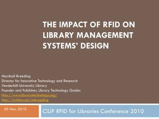 The impact of RFID on library management systems' design