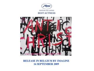 RELEASE IN BELGIUM BY IMAGINE 16 SEPTEMBER 2009