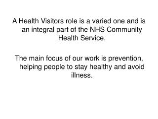 The Health Visiting Team