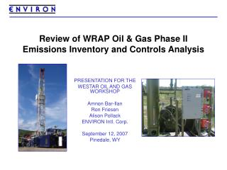 Review of WRAP Oil  Gas Phase II Emissions Inventory and Controls Analysis