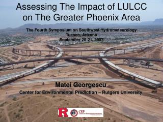 Assessing The Impact of LULCC on The Greater Phoenix Area