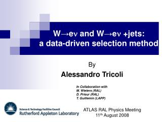 W → e n  and W →e n  +jets : a data-driven selection method