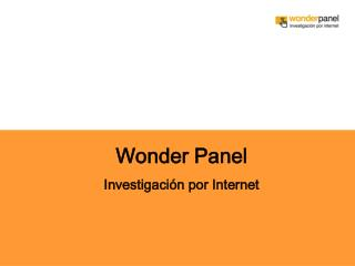 Wonder Panel Investigación por Internet
