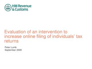 Evaluation of an intervention to increase online filing of individuals' tax returns