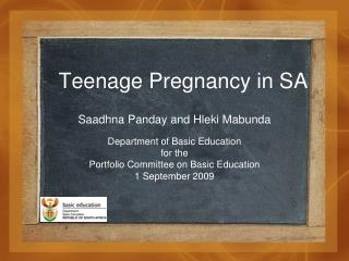 Teenage Pregnancy in SA