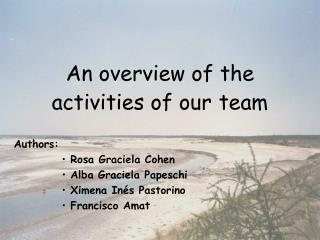 An overview of the activities of our team