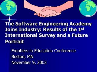 Frontiers in Education Conference Boston, MA November 9, 2002