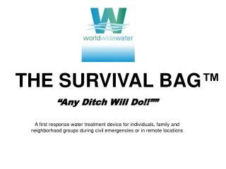 THE SURVIVAL BAG
