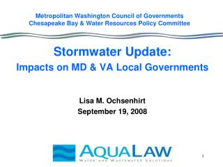Metropolitan Washington Council of Governments Chesapeake Bay  Water Resources Policy Committee