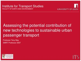 Assessing the potential contribution of new technologies to sustainable urban passenger transport