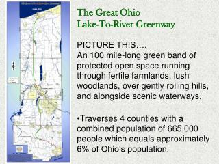 The Great Ohio  Lake-To-River Greenway