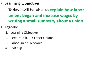 Learning Objective