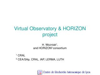 Virtual Observatory & HORIZON project