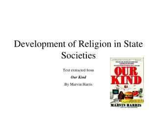Development of Religion in State Societies